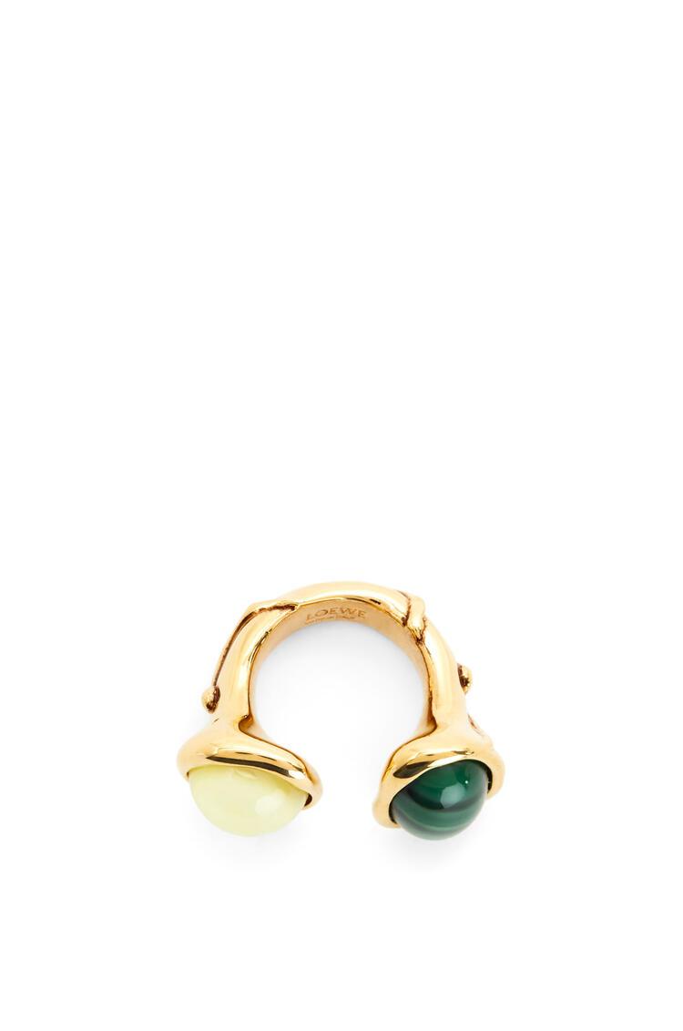 LOEWE Ring in metal Yellow/Green pdp_rd