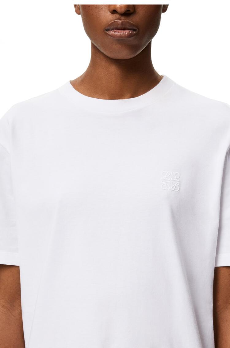 LOEWE Camiseta en algodón con Anagrama bordado Blanco pdp_rd