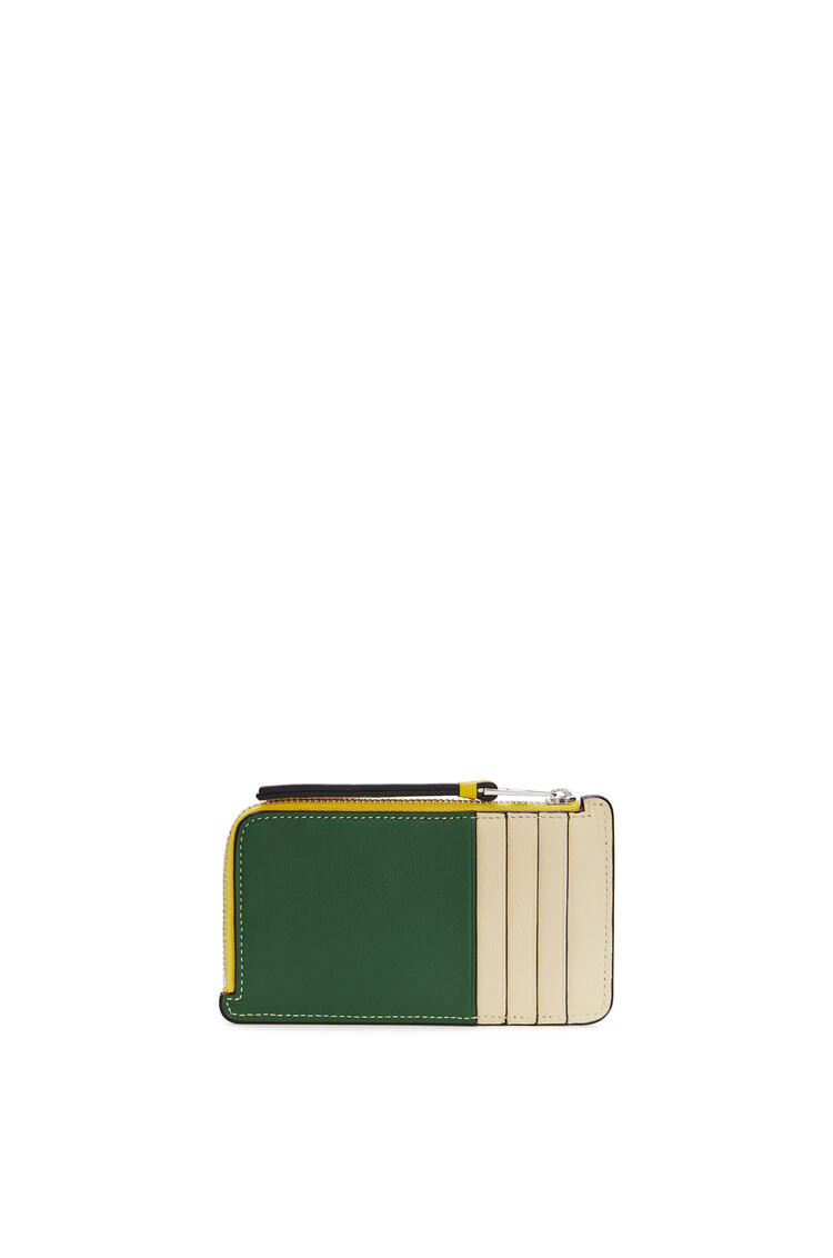 LOEWE Coin cardholder in classic calfskin Dark Forest/Multicolor pdp_rd