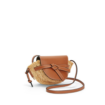 LOEWE Gate Mini Bag Tan/Natural front