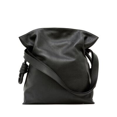 LOEWE Flamenco Knot Bag Black front