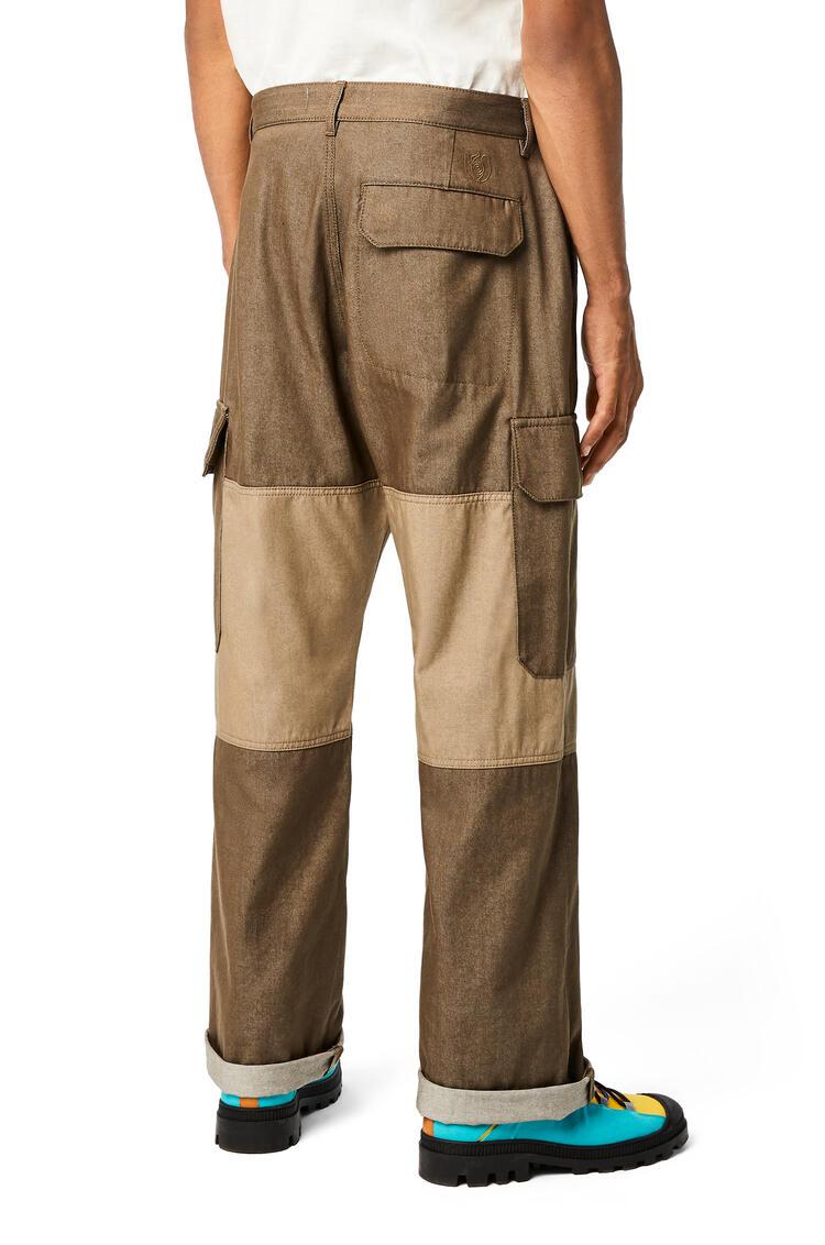 LOEWE Pantalón en algodón Verde Kaki pdp_rd