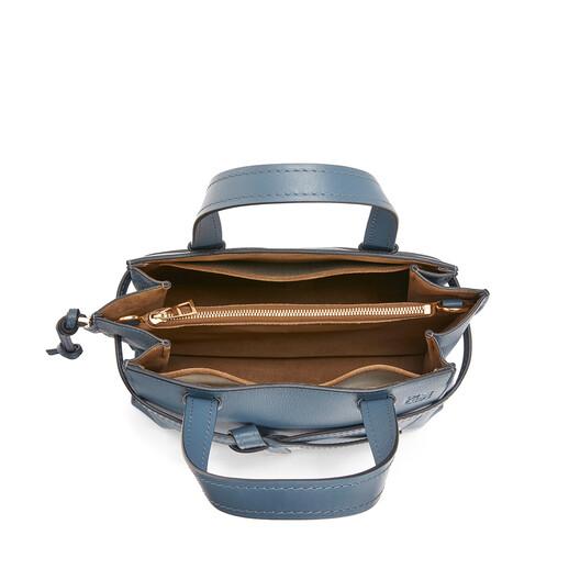 LOEWE Gate Top Handle Small Steel Blue front