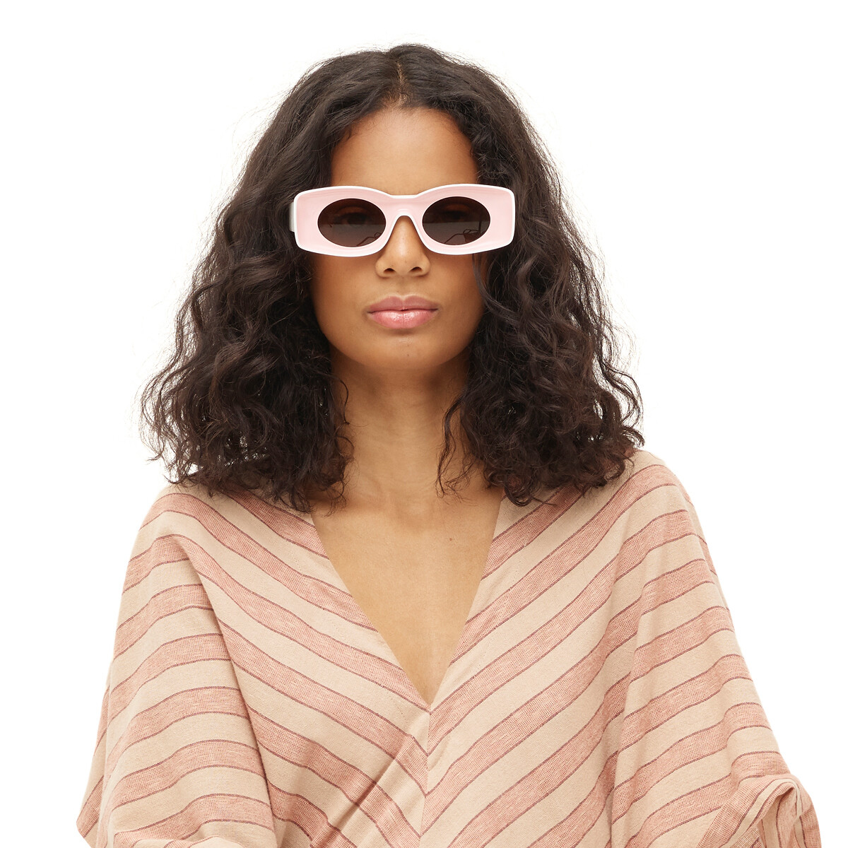 LOEWE Paula's Ibiza Original Sunglasses In Acetate Pink/White front