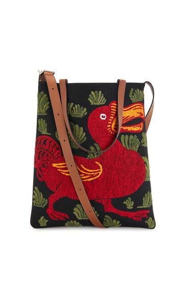 LOEWE VERTICAL TOTE ANIMALS BAG Black/Red pdp_rd