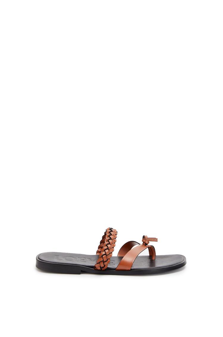 LOEWE 皮革凉鞋 棕色 pdp_rd