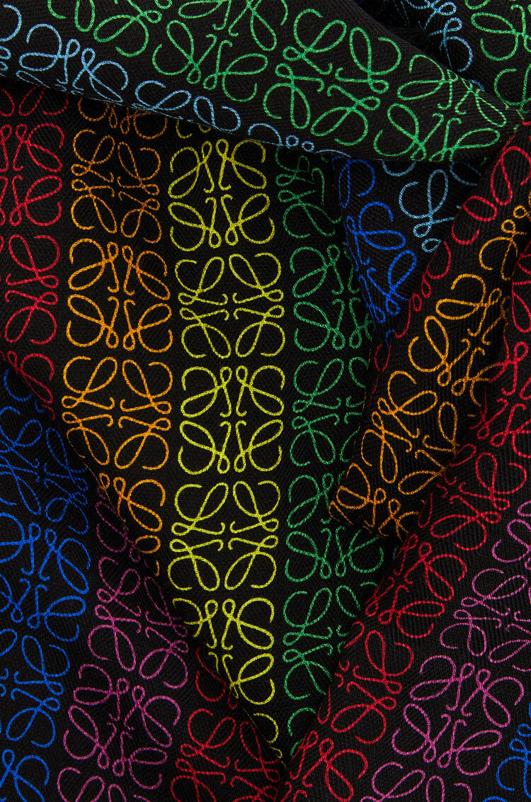 LOEWE 70 x 200 cm LOEWE anagram scarf in wool and cashemere Black/Multicolor pdp_rd