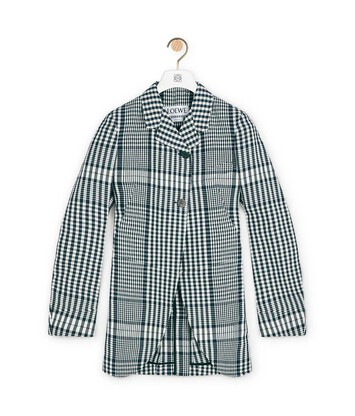 LOEWE Check Jacket Black/White front
