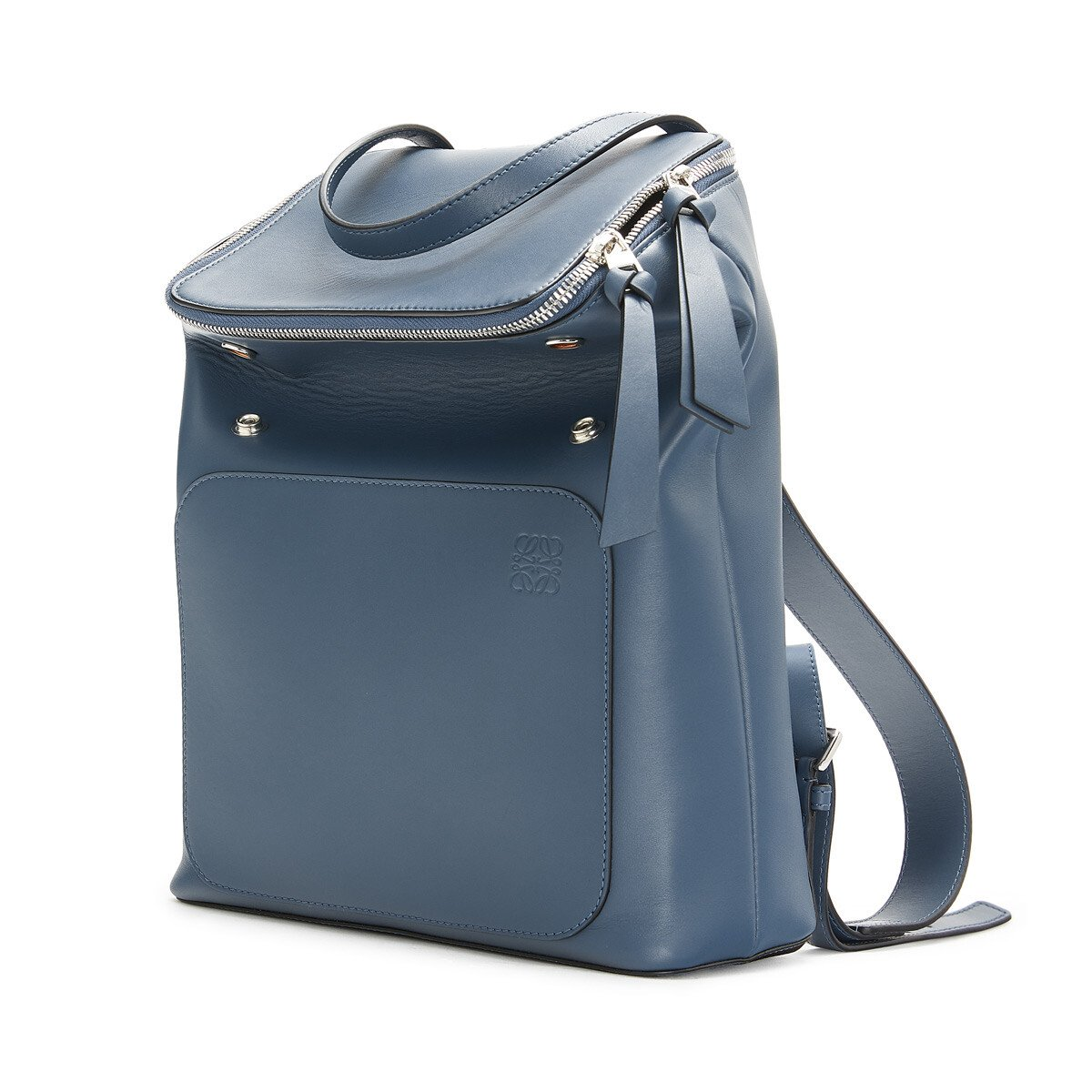 LOEWE Goya Small Backpack Steel Blue front