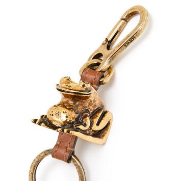 LOEWE Frog Keyring Old Gold front