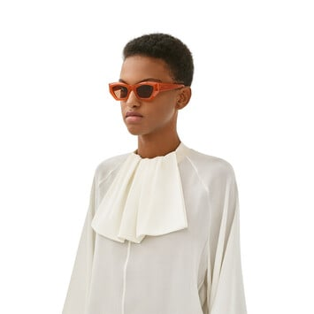 LOEWE Geometric Cateye Sunglasses Rust Color/Brown front