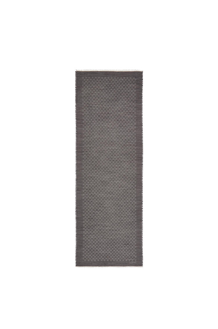 LOEWE 70 x 200 cm ロエベ アナグラム スカーフ(ウール) ブラック pdp_rd