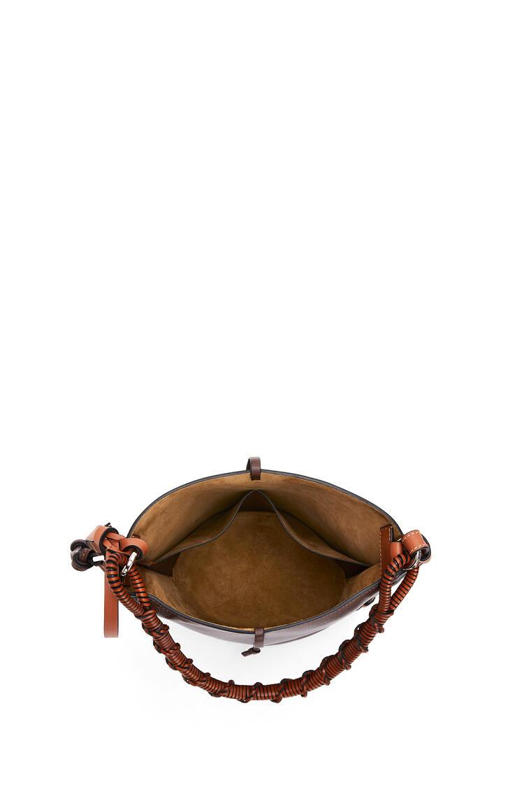 LOEWE Gate Bucket Handle in calfskin Brunette pdp_rd
