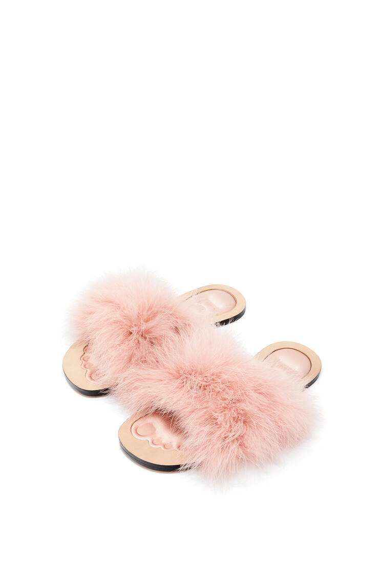 LOEWE Feathers Sandal In Nappa Light Pink pdp_rd