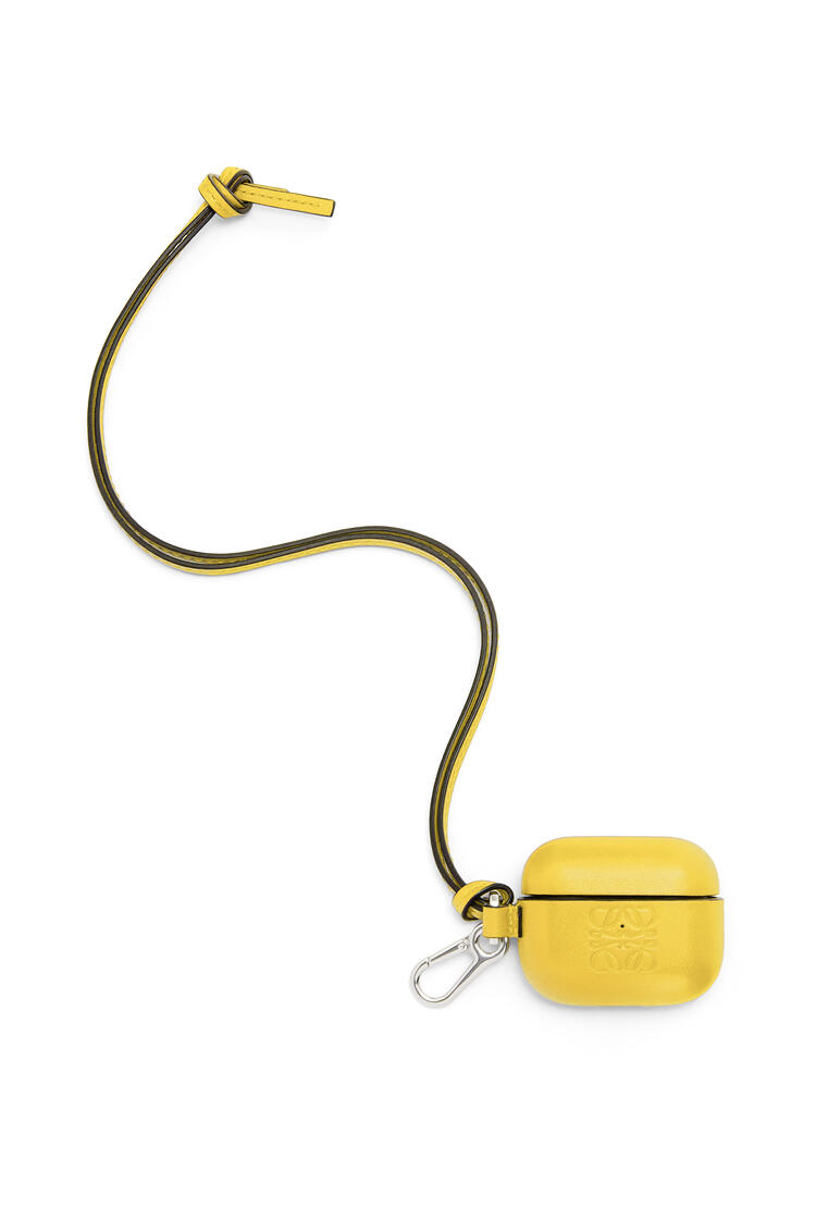 LOEWE AirPod Pro case in classic calfskin Yellow pdp_rd