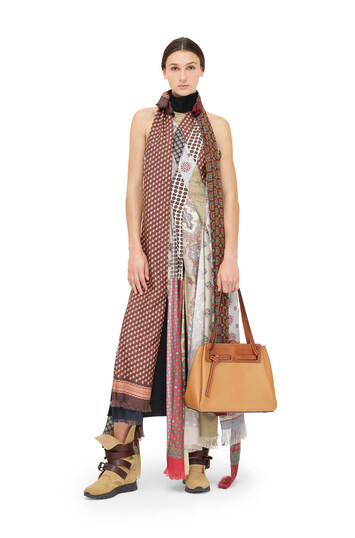 LOEWE Patchwork Scarf Dress Multicolor front