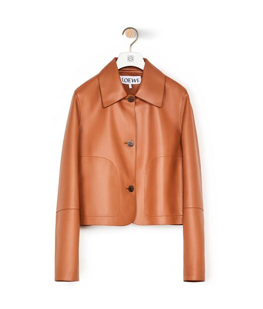 LOEWE Button Jacket Tan front