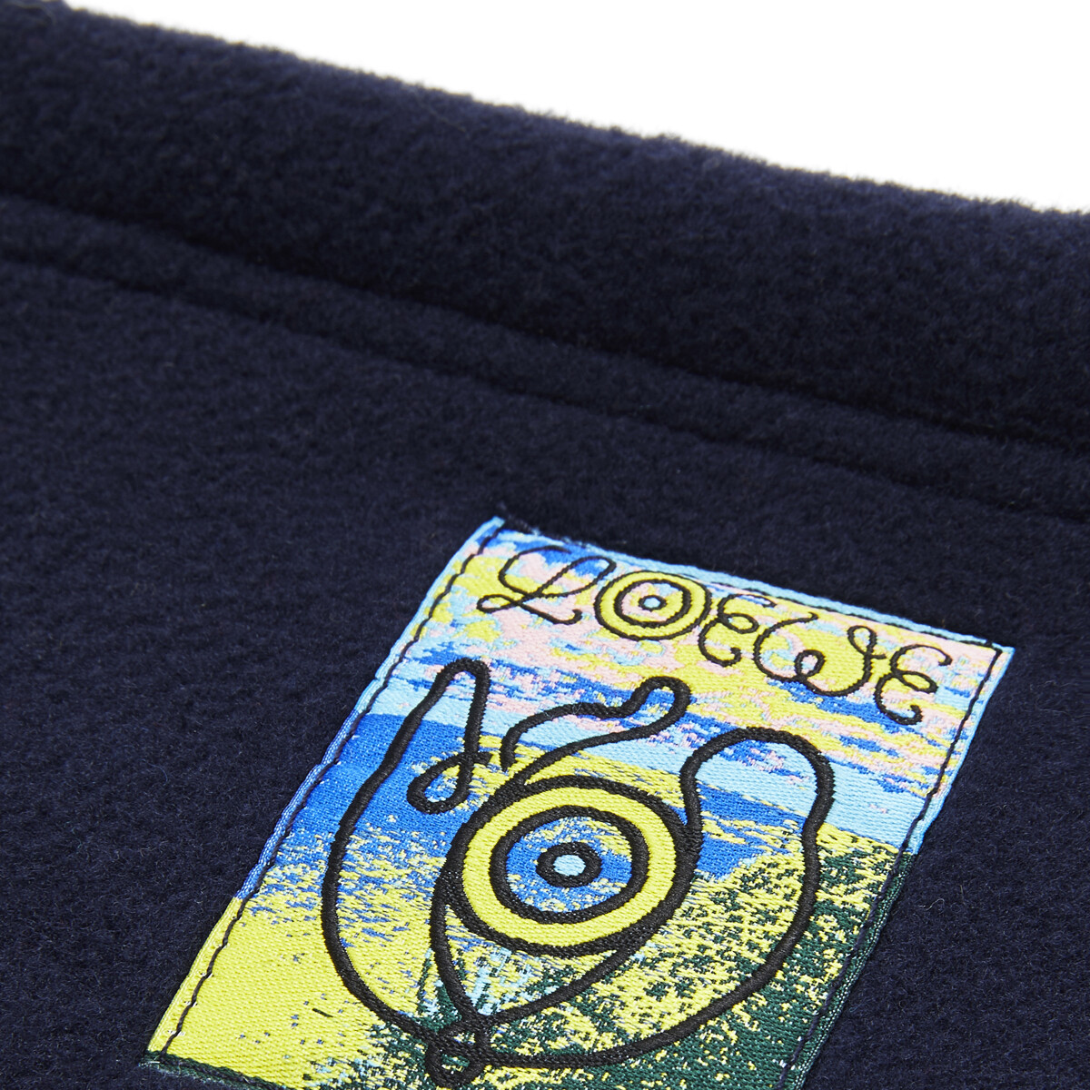 "LOEWE """"""EYE""""自然男士羊毛围脖"" 海军蓝 front"