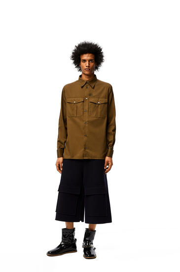 LOEWE Patch pocket shirt in cotton Military Green pdp_rd