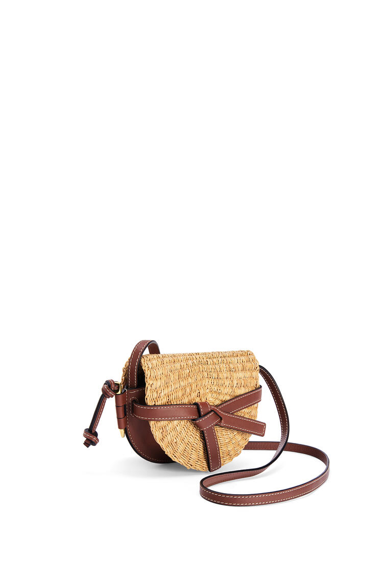 LOEWE Mini Gate Bag In Elephant Grass And Calfskin Natural/Pecan pdp_rd