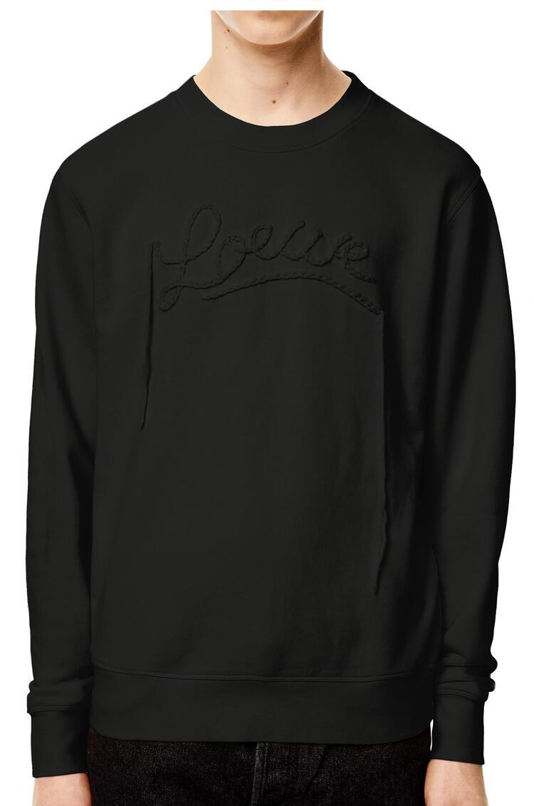 LOEWE LOEWE embroidery sweatshirt in cotton Black pdp_rd