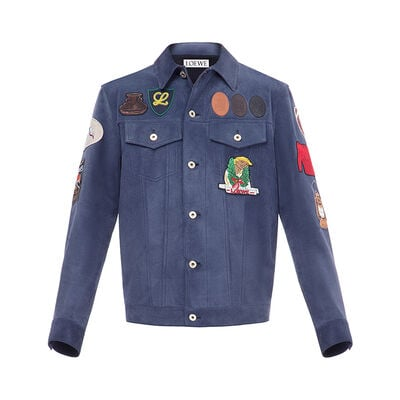 LOEWE Jacket Patches 金属蓝 front