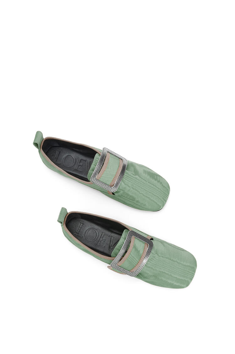 LOEWE Buckle slipper moire in viscose Sage pdp_rd