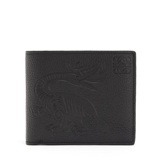 LOEWE Bifold Wallet Animals Black front