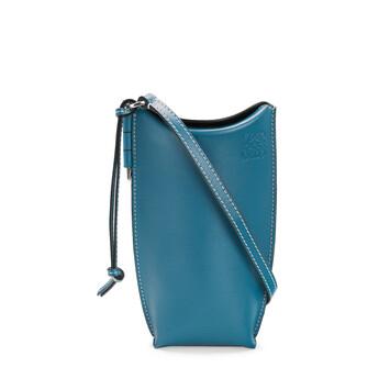 LOEWE Gate Pocket Azul Laguna Oscuro front