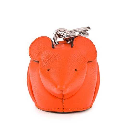 LOEWE Mouse Charm 橙色 front