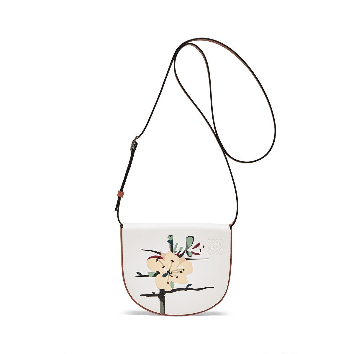 LOEWE Mini Bolso Heel Botanical Blanco Suave/Bronceado all