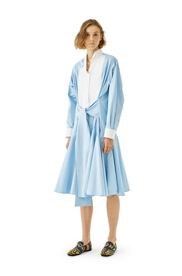 LOEWE Shirtdress Baby Blue/White front