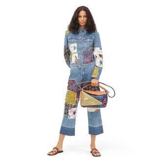LOEWE Paula's Puzzle Patchwork Bag Multicolor front