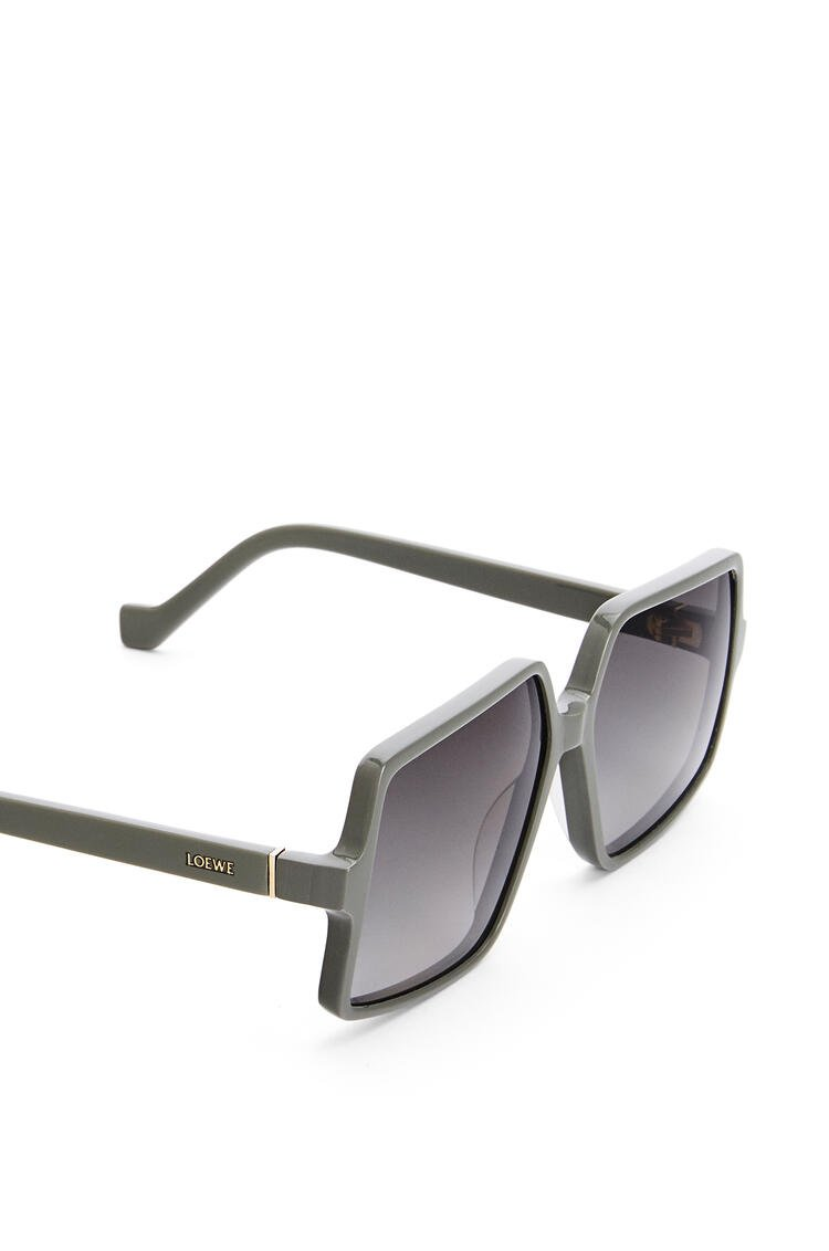 LOEWE Thin acetate pentagon sunglasses Dusty Sage pdp_rd