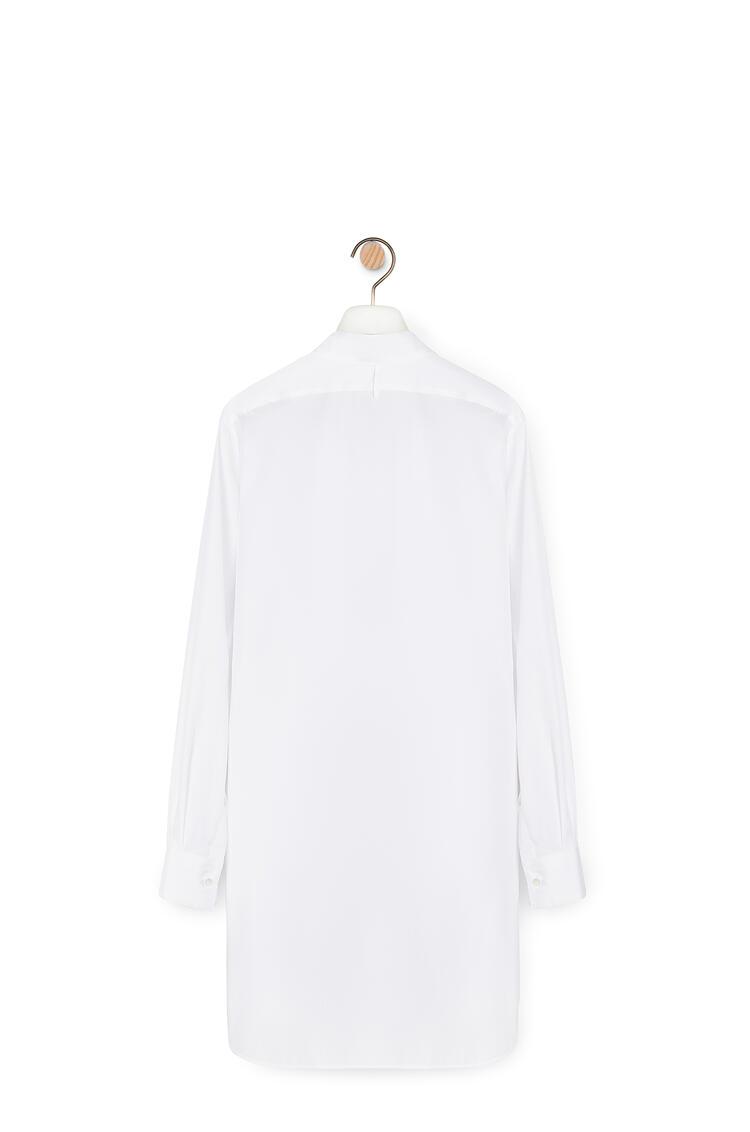 LOEWE Long Asymmetric Shirt In Cotton White pdp_rd
