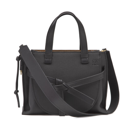 LOEWE Gate Top Handle Pequeño Negro front