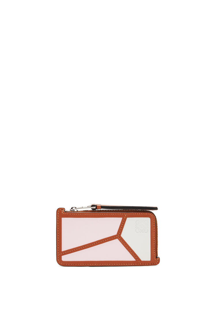 LOEWE Puzzle coin cardholder in classic calfskin Icy Pink/Soft White pdp_rd