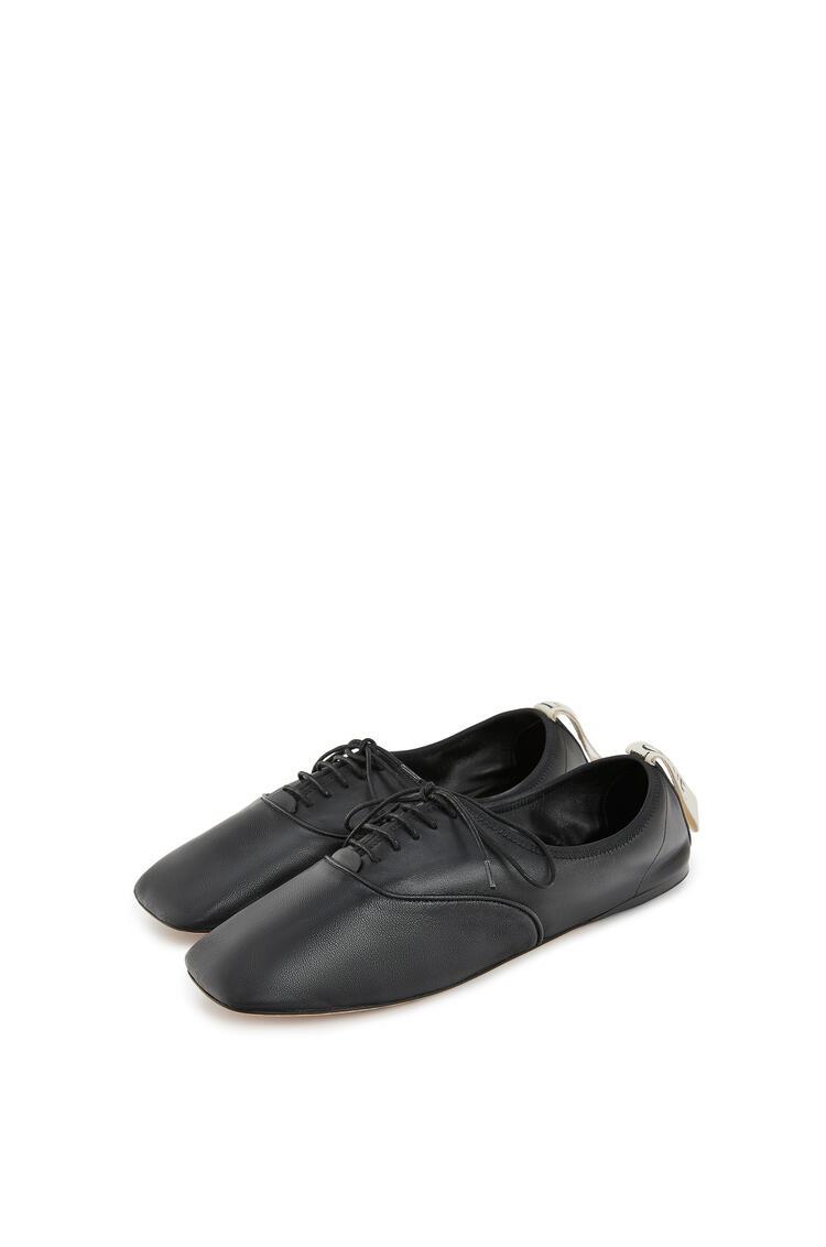 LOEWE Zapato derby en suave piel de cordero Negro pdp_rd
