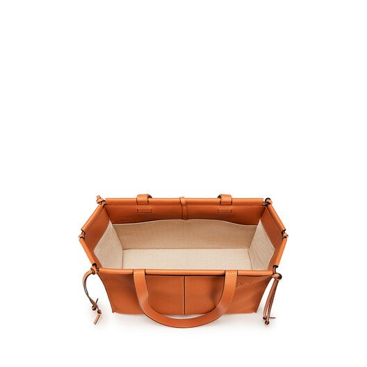 LOEWE Cushion Tote Small Bag Light Caramel front