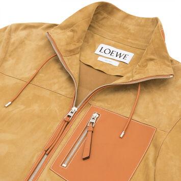 LOEWE Zip Blouson 金色/棕褐色 front