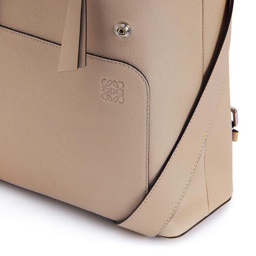 LOEWE Goya Small Backpack Light Oat  front