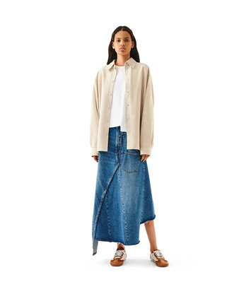 LOEWE Oversize Shirt Marfil front