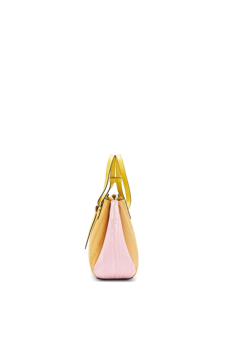 LOEWE Mini Lazo bag in textile and calfskin Yellow/Pink pdp_rd