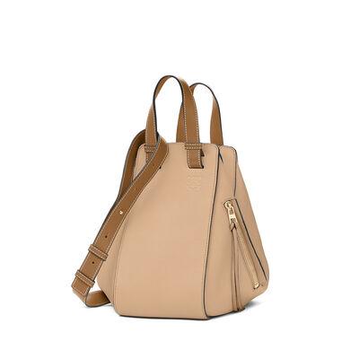 LOEWE Hammock Small Bag Sand/Mink Color front