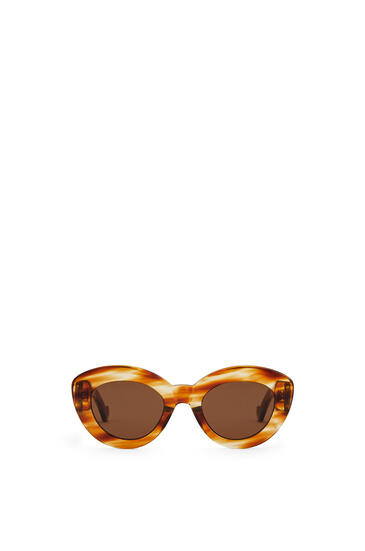 LOEWE Butterfly Anagram Fitted sunglasses in acetate Striped Havana pdp_rd