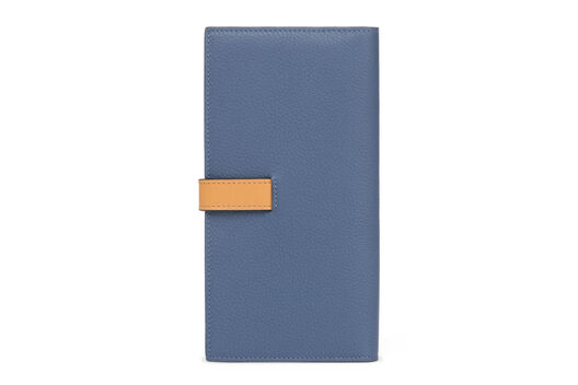 LOEWE Large Vertical Wallet Varsity Blue/Honey all