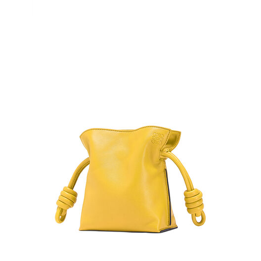 LOEWE Mini Flamenco Knot Bag Yellow front