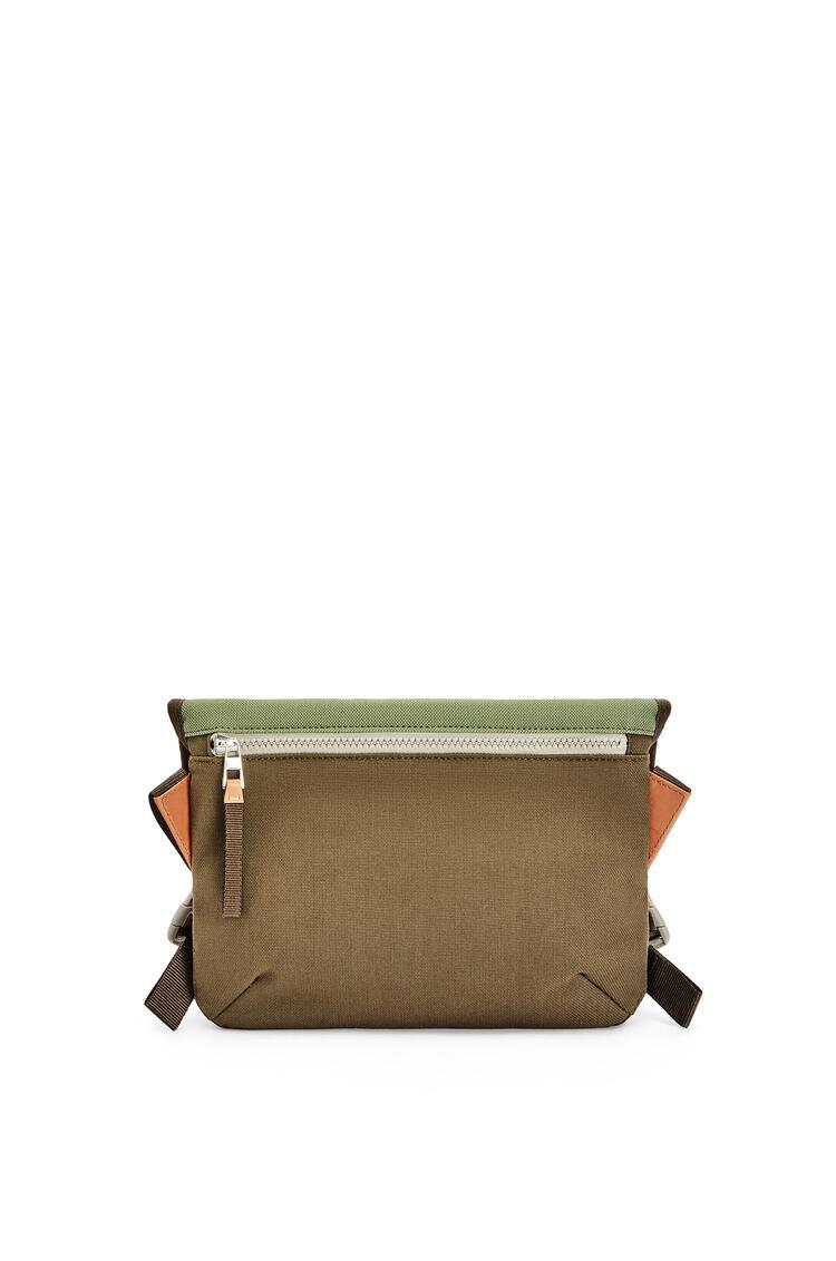 LOEWE Small Messenger bag in canvas Khaki Green pdp_rd