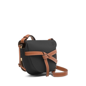 LOEWE Gate Small Bag Black/Pecan front