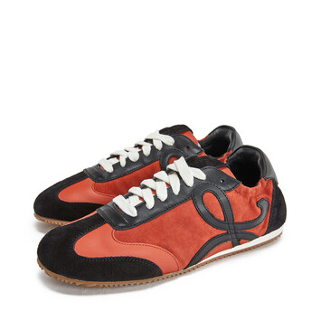 LOEWE Ballet Runner Rust Red/Black front